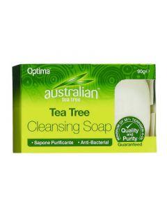 Optima Australian Tea Tree Antiseptic Cleansing Soap 90gr Καθαριστικό Σαπούνι με Έλαιο Τεϊόδεντρου
