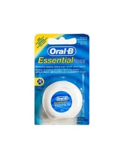 Oral-B Essential Floss Unwaxed 50m Ακήρωτο Οδοντικό Νήμα