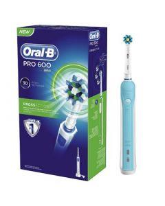 Oral-B Pro 600 Crossaction Ηλεκτρική Οδοντόβουρτσα 1 Τεμάχιο