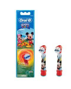 Oral-B Stages Power Kids Mickey Mouse Ανταλλακτική Κεφαλή 2 Τεμάχια