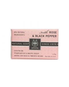 Apivita Natural Soap Rose and Black Pepper 125gr