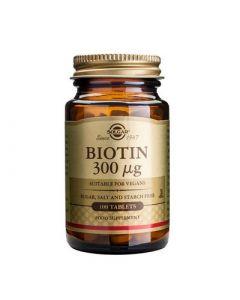Solgar Biotin 0.3mg 100 Tabs