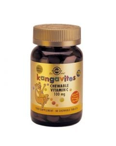 Solgar Kangavites Vitamin C 100mg 90 Chewable Tabs Γεύση Πορτοκάλι