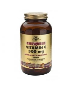 Solgar Vitamin C 500mg 90 Chewable Tabs Rasberry Flavor