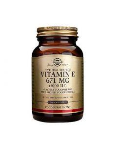 Solgar Vitamin E 1000IU 50 Softgels