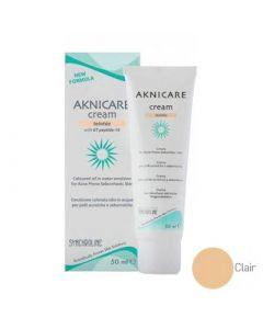 Synchroline Aknicare Cream Teintee Clair 50ml Ενυδατική Κρέμα Προσώπου με Χρώμα για τη Μείωση της Ακμής - Ανοιχτή Απόχρωση