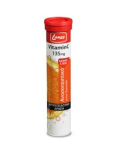 Lanes Vitamin C 135mg 20 Effervescent Tabs Αναβράζουσες Ταμπλέτες με Γεύση Πορτοκάλι
