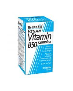 Health Aid B 50 Complex 30 Tabs Σύμπλεγμα Βιταμινών Β