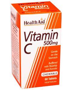 Health Aid Vitamin C 500mg Μασώμενη 60 Tabs