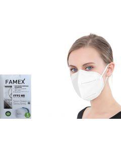 Famex FFP2 Λευκή 1τμχ Μάσκα Προστασίας