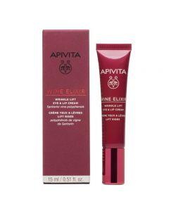 Apivita ΝΕΑ Wine Elixir Αντιρυτιδική Κρέμα Lifting για τα Μάτια & τα Χείλη 15ml