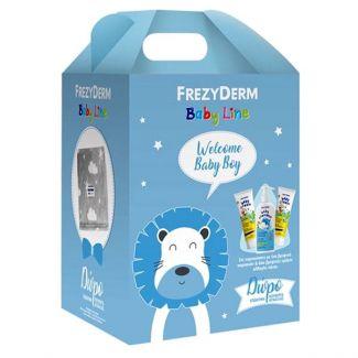 Frezyderm Welcome Baby Boy, με Baby Shampoo Βρεφικό Σαμπουάν 300ml & Baby Cream Κρέμα για την Αλλαγή Πάνας 2x175m & Δώρο Κουβερτάκι Αγκαλιάςl